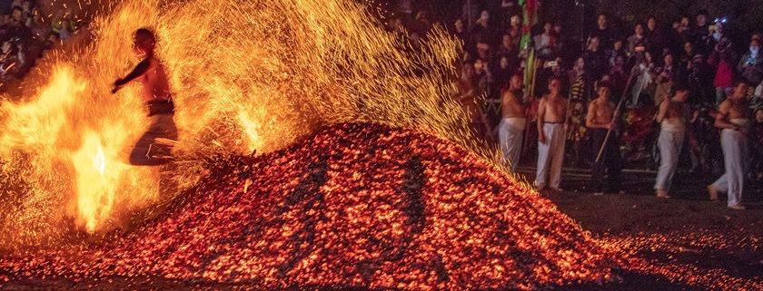 walks on fire